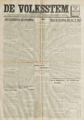 De Volksstem 1938-06-26