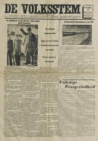 De Volksstem 1938-09-17