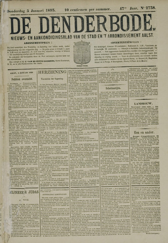De Denderbode 1893-01-05