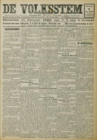 De Volksstem 1926-01-09