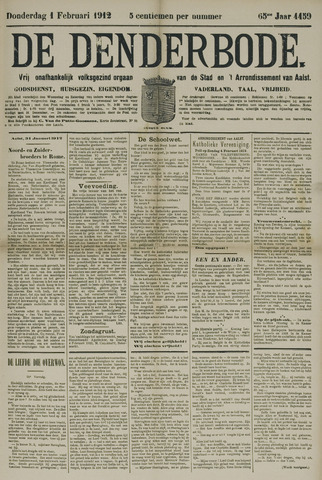De Denderbode 1912-02-01