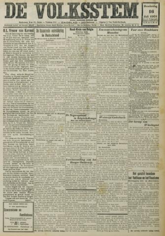 De Volksstem 1931-07-16
