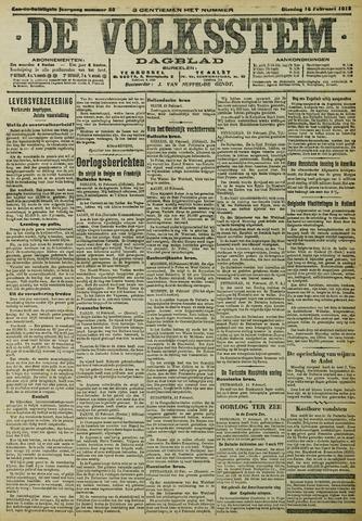 De Volksstem 1915-02-16