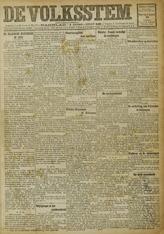 De Volksstem 1923-01-02