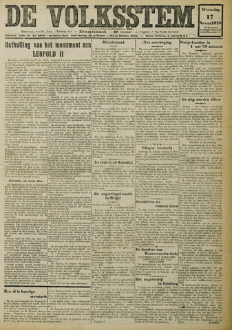 De Volksstem 1926-11-17