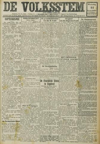 De Volksstem 1931-10-14