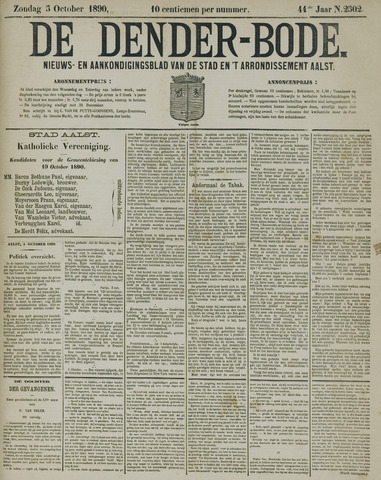 De Denderbode 1890-10-05