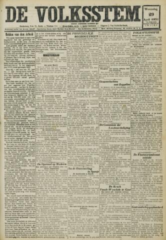 De Volksstem 1931-04-29