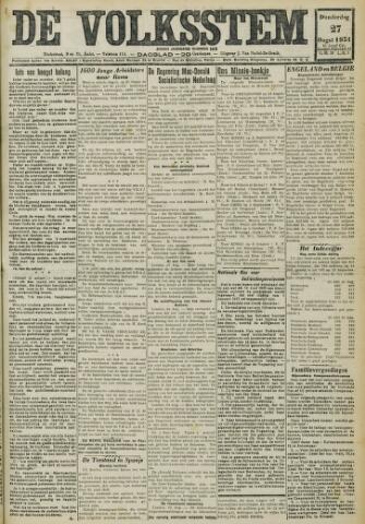 De Volksstem 1931-08-27