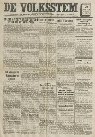 De Volksstem 1938-11-30