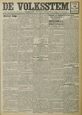De Volksstem 1926-02-12