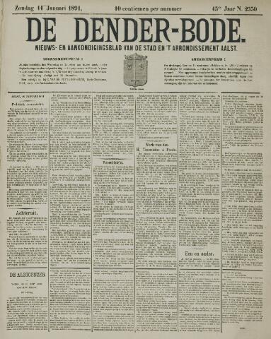 De Denderbode 1891-01-11