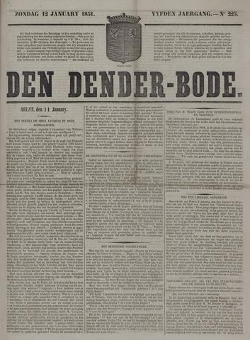 De Denderbode 1851-01-12