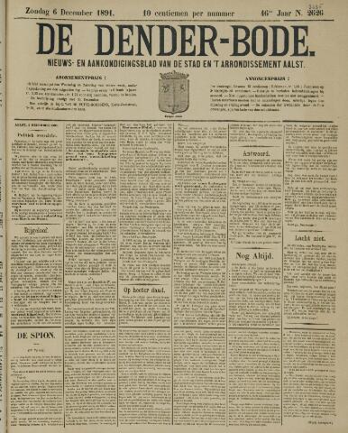 De Denderbode 1891-12-06