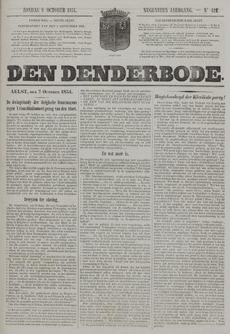De Denderbode 1854-10-08