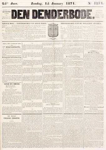 De Denderbode 1871-01-15