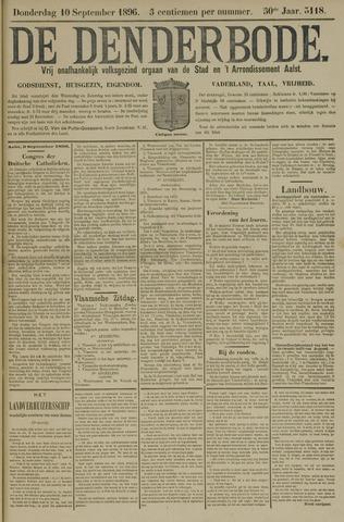 De Denderbode 1896-09-10