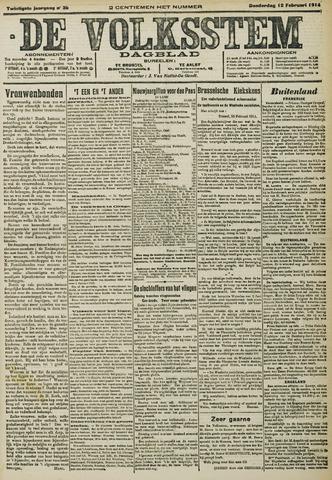 De Volksstem 1914-02-12
