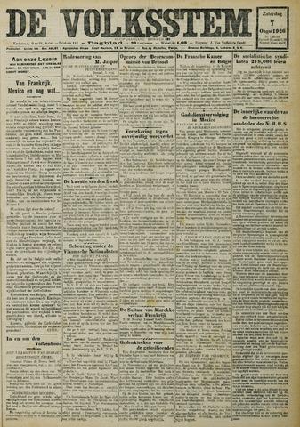 De Volksstem 1926-08-07
