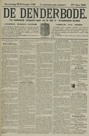 De Denderbode 1907-02-28