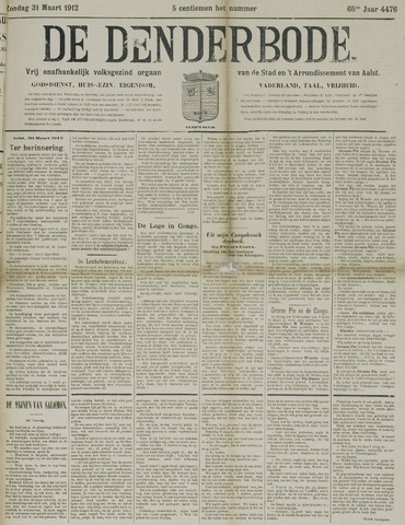 De Denderbode 1912-03-31