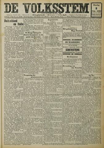 De Volksstem 1926-02-02