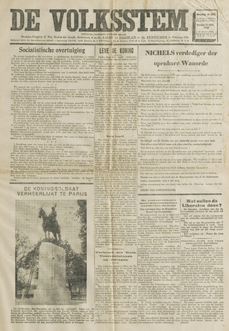 De Volksstem 1938-10-10