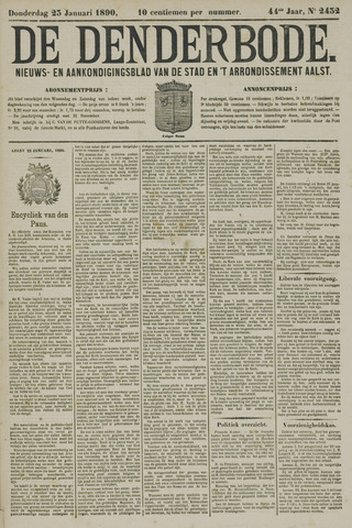 De Denderbode 1890-01-23