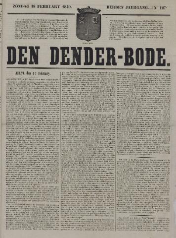 De Denderbode 1849-02-18