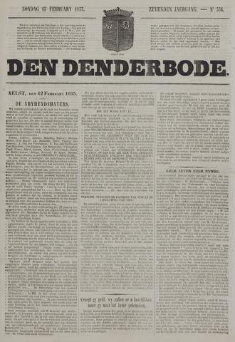 De Denderbode 1853-02-13