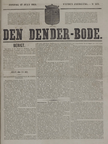 De Denderbode 1851-07-27