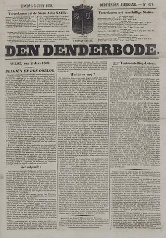 De Denderbode 1859-07-03