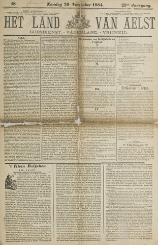 Het Land van Aelst 1884-11-30