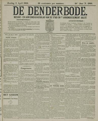 De Denderbode 1894-04-01