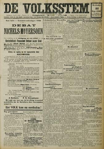 De Volksstem 1926-09-22