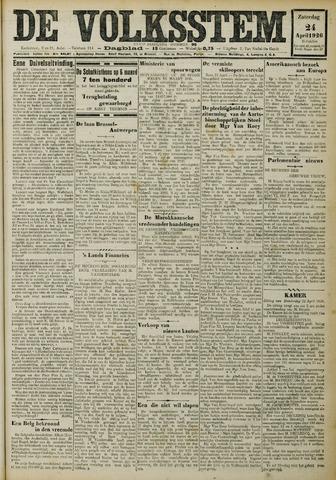 De Volksstem 1926-04-24