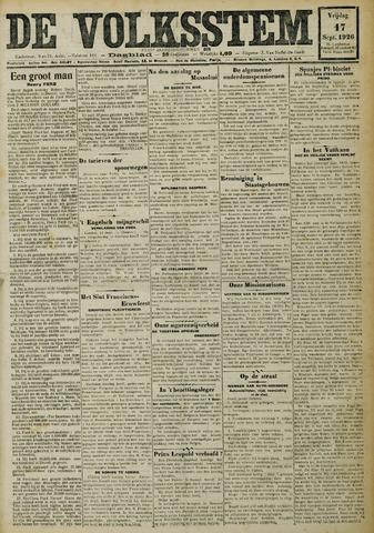 De Volksstem 1926-09-17