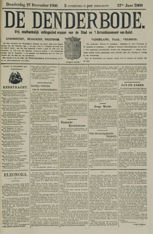 De Denderbode 1906-12-27