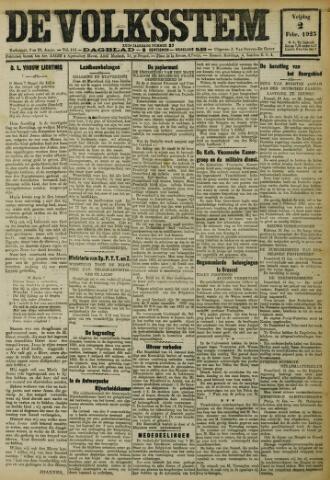 De Volksstem 1923-02-02