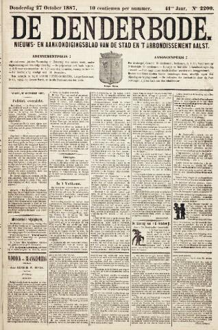 De Denderbode 1887-10-27