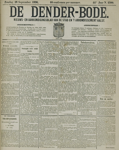 De Denderbode 1890-09-28