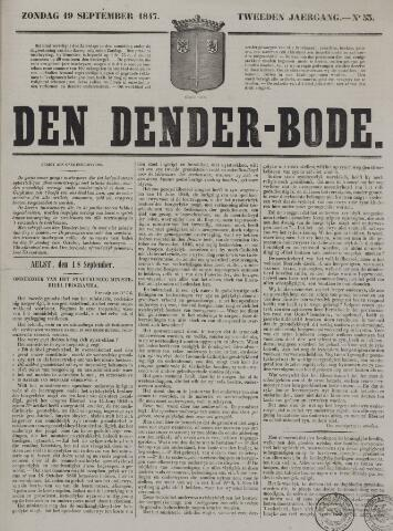 De Denderbode 1847-09-19