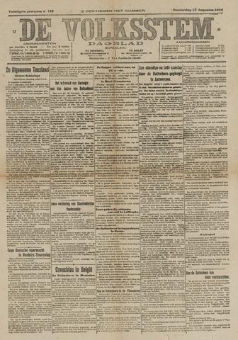 De Volksstem 1914-08-27