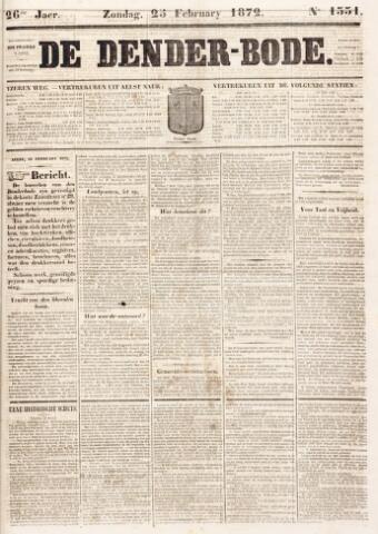De Denderbode 1872-02-25