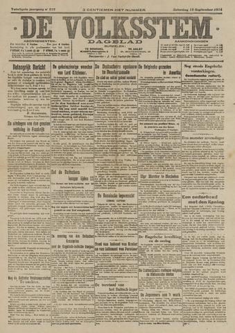 De Volksstem 1914-09-19