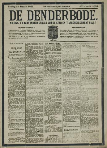 De Denderbode 1891-01-25