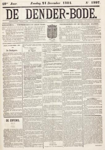 De Denderbode 1884-12-21