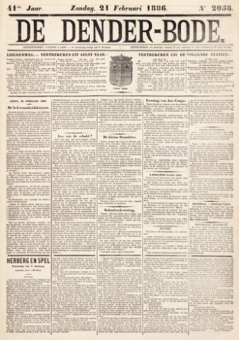 De Denderbode 1886-02-21