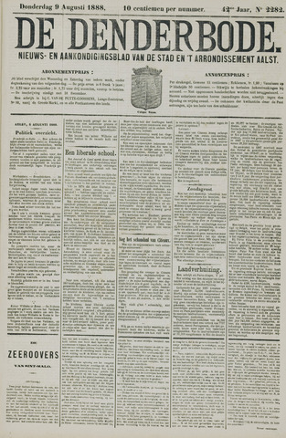 De Denderbode 1888-08-09