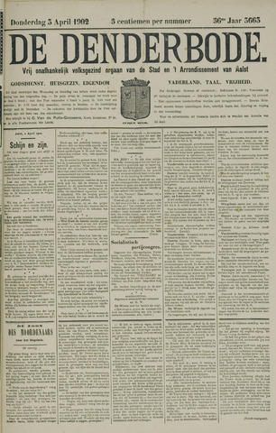 De Denderbode 1902-04-03